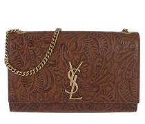Kate Shoulder Bag Floral Motif Brown