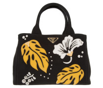 Tasche - Canapa Hawaii Shopping Bag Nero + Mimosa - in schwarz