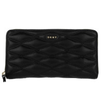 Zip Around Wallet Large Black Portemonnaie