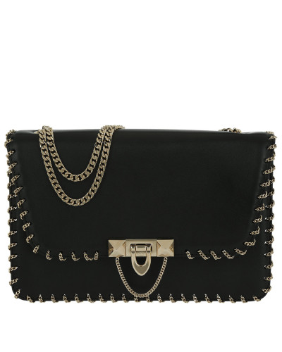 Valentino Damen Demilune Small Leather Bag Black Tasche