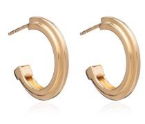 Ohrringe Art Deco Stepped Hoops Earrings Yellow Gold