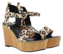 Sandalen - Kleia High Wedge II Pony Taupe