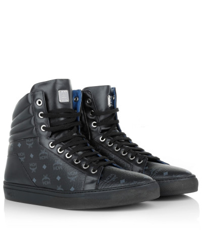 mcm damen mcm sneakers carryover hightop sneaker black. Black Bedroom Furniture Sets. Home Design Ideas