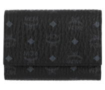 Visetos Original Flap Wallet Tri-Fold Small Black