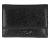 Portemonnaie K/Signature Met Flap Wallet Black