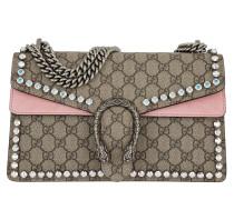 Dionysus GG Supreme Shoulder Bag Small Crystals Beige/Pink rosa