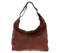 Monospalla Media Rivetti Shoulder Bag Cognac braun