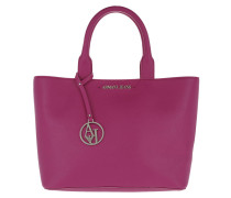 Shopping Bag Short Handle Fuchsia Umhängetasche