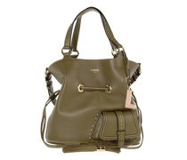 Beuteltasche Flirt Grained Leather Bucket Bag Medium