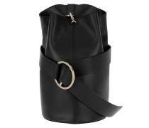 Medium B Bag Mastrotto Nappa Black Beuteltasche