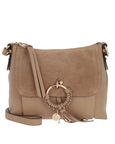 Umhängetasche Joan Grained Shoulder Bag Leather Coconut Brown beige