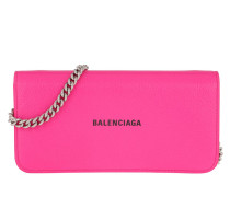 Umhängetasche Wallet On Chain Leather Pink