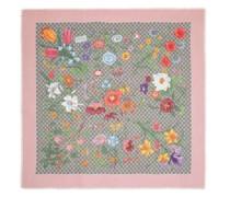 Tücher & Schals GG Flora Printed Wool Silk Scarf
