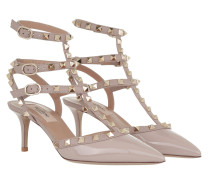 Rockstud Ankle Strap Sandali Con Tacco Poudre Pumps