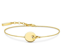 Armband Bracelet Together Coin With Gold-Coloured Ring