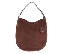 Tasche - Kaleido Velvet Suede Hobo Bag Oxblood
