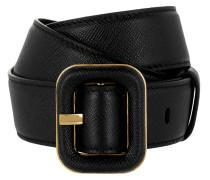 Belt Saffiano Black Gürtel gold