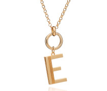 Halskette Oversized Alphabet E Pendant Necklace Yellow Gold