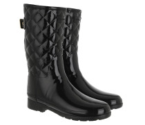 Boots Refined Gloss Quilt Short Black