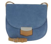 Tasche - Trotteur Small Crossbody Bag Suede Porcelain - in blau