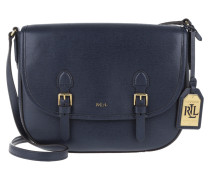 Tasche - Messenger Crossbody Leather Bag Navy/Cocoa