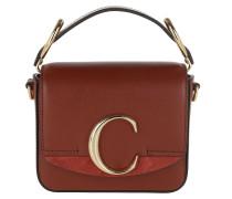 Umhängetasche C Bag Mini Leather Sepia Brown