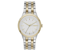 Armbanduhr - Park Slope Round Watch Silver/Gold