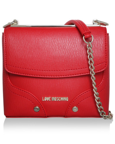moschino damen love moschino tasche shoulder bag small red in rot umh ngetasche f r damen. Black Bedroom Furniture Sets. Home Design Ideas
