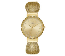 Uhr Women Quartz Watch Chiffon Gold