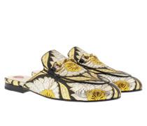 Princetown Slipper Lurex Jacquard Black/Gold Schuhe