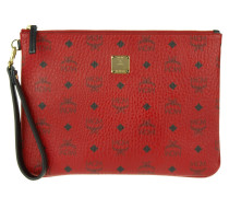 Kleinleder - Stark Top Zip Medium Pouch Ipad Bag Red