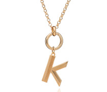 Halskette Statement Oversized Art Deco K Initial Necklace Yellow Gold