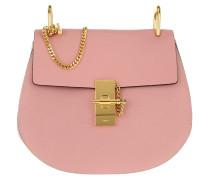 Drew Small Saddle Bag Grain Lambskin Washed Pink Umhängetasche