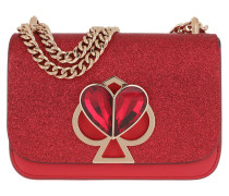 Umhängetasche Nicola Glitter Twistlock Small Chain Shoulder Bag Hot Chili