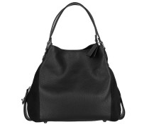 Tote Edie Shoulder Bag Mixed Leather Black