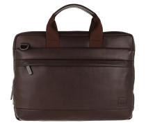 """Laptoptasche Foster Briefcase Bag 14"""" Brown"""