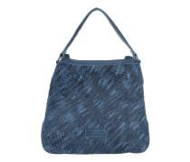 Tasche - Kindamba Hobo Bag Leather Deep Water Blue Double Dyed - in blau