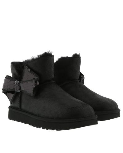 W Mini Sequin Bow Black Schuhe