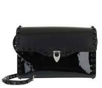 Umhängetasche Small Rockstud Crossbody Bag Leather Black