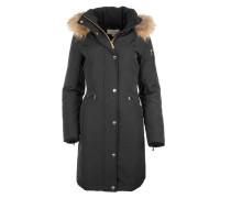 Mäntel - Premium Heavy Down Fur Trimmed Coat Black
