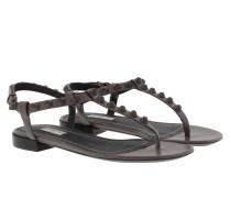 Flat Sandale Gris/Asphalt Sandalen
