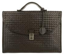 Handtasche - Men's Briefcase Valigia Leggero Intrecciato Espresso