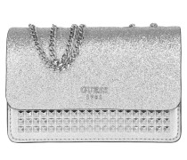 Electric Party Mini Flap Silver Umhängetasche silber