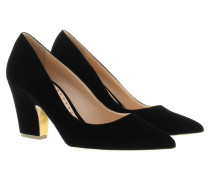 Pumps - Pierrot Velvet Pumps Black