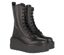 Boots V Logo High Combat Leather Black