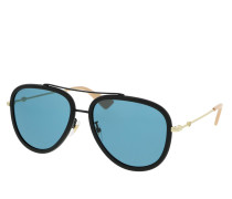 Sonnenbrille GG0062S-017 57 Sunglass WOMAN METAL BLACK