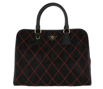 Quilted Nylon Bag Nero/Fuoco Tote rot