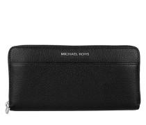 Mercer Pocket Zip-Around Continental Wallet Black Portemonnaie schwarz