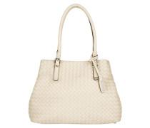 Piuma Braided Shopping Bag Beige