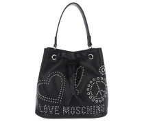 Bucket Bag Love Peace Nero Beuteltasche